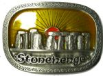 Stonehenge Monument Belt Buckle + display stand. Code AC2